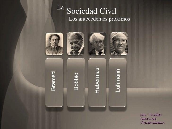 Gramsci Bobbio Habermas Luhmann La  Sociedad Civil Los antecedentes próximos