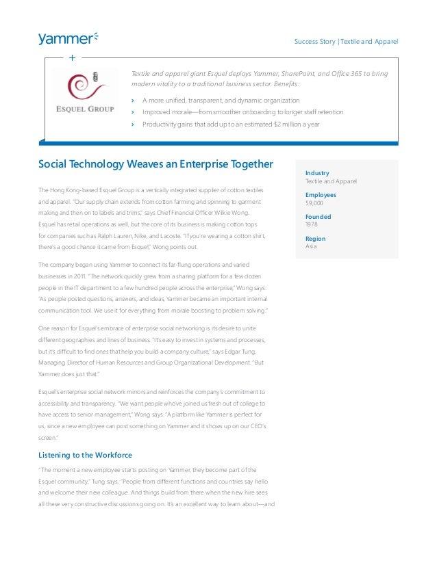 Social technology weaves an enterprise together