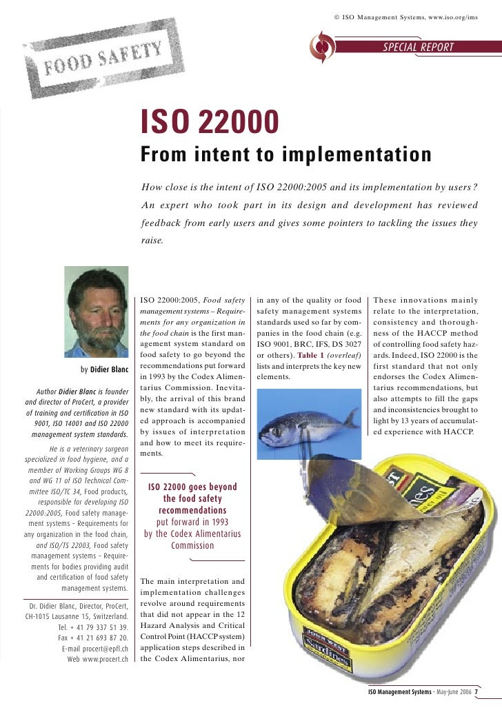 © ISO Management Systems, www.iso.org/ims                                                                                 ...