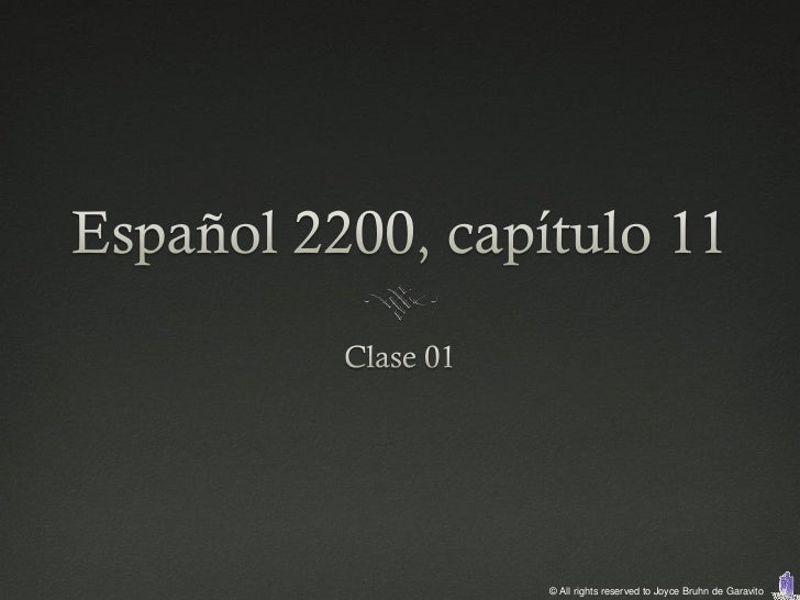 2200 capítulo 11 clase 01