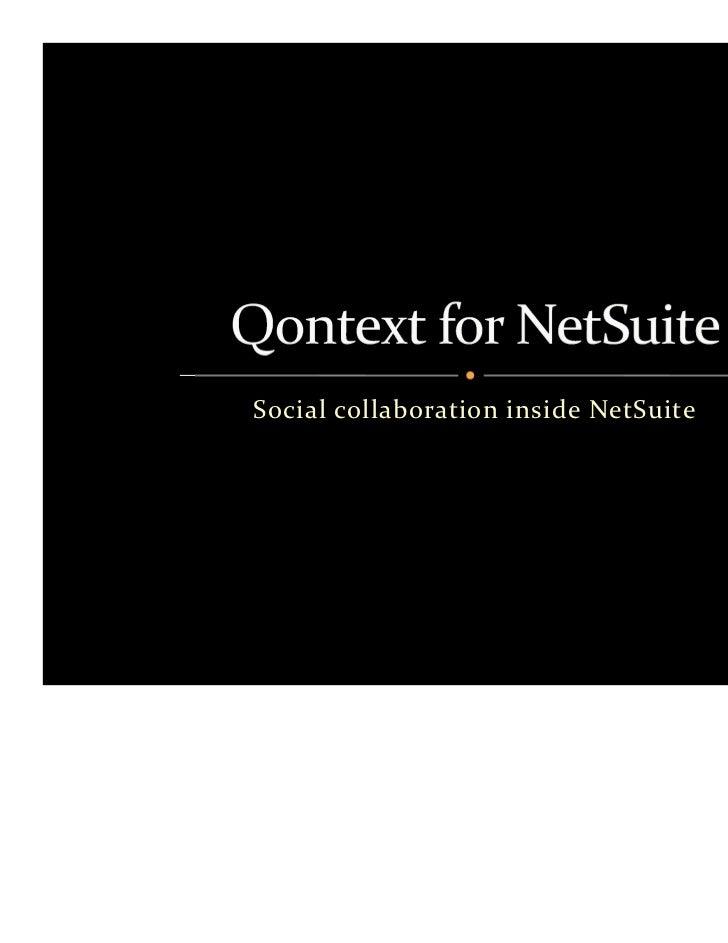 Social Collaboration Inside NetSuite Using Qontext