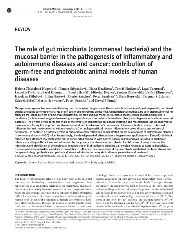 Cellular & Molecular Immunology (2011) 8, 110–120 ß 2011 CSI and USTC. All rights reserved 1672-7681/11 $32.00 www.nature....