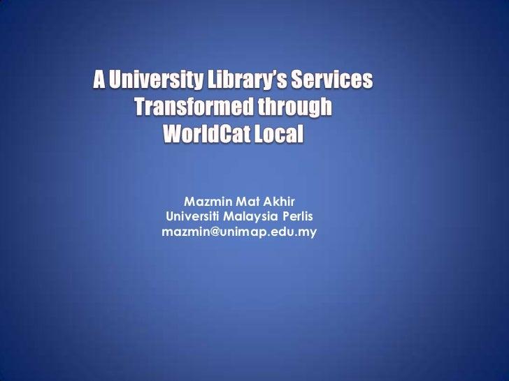 Mazmin Mat AkhirUniversiti Malaysia Perlismazmin@unimap.edu.my