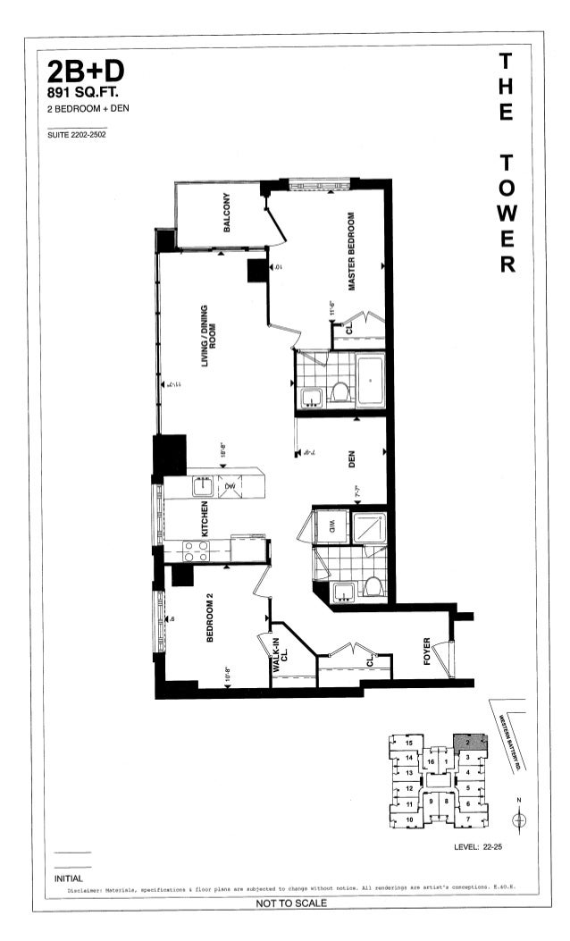 The tower at king west in liberty village 125 western for 1 king west floor plans