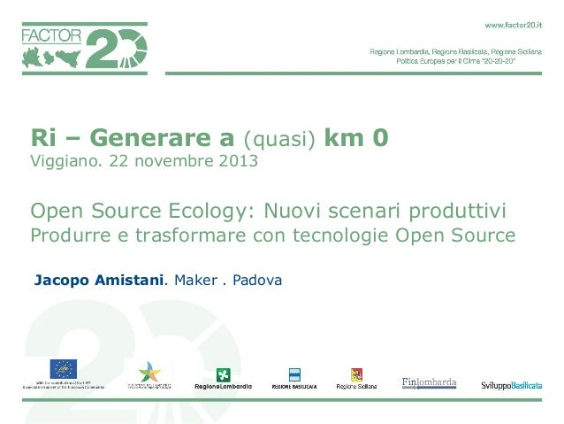 Open Source Ecology di Jacopo Amistani.