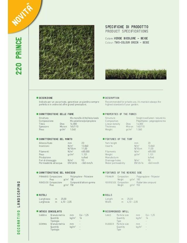 56  220 PRINCE  SPECIFICHE DI PRODOTTO PRODUCT SPECIFICATIONS Colore: verde bicolore - beige Colour: Two-colour green - be...