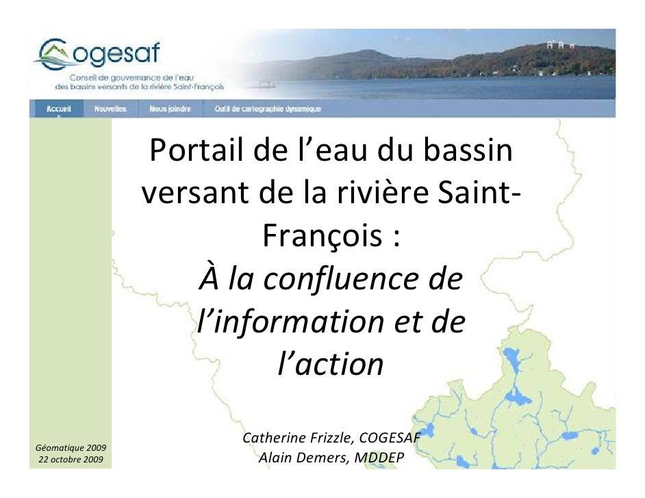 Portail de l'eau du bassin versant de la rivière Saint-François