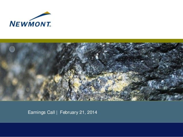 Earnings Call | February 21, 2014