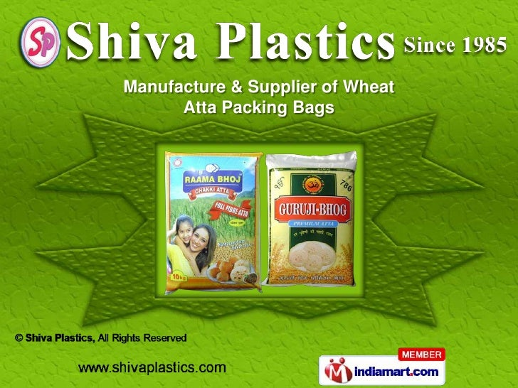 Manufacture & Supplier of Wheat      Atta Packing Bags