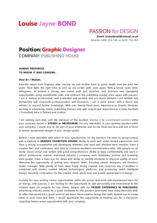 louise bond resume graphic designer july 2015