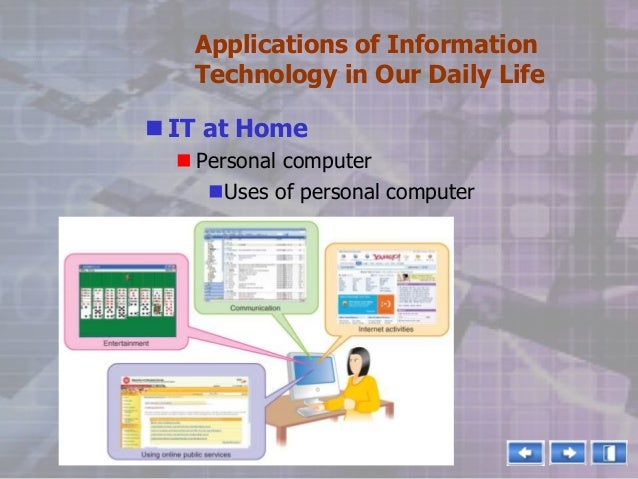 technology in our daily life essay Free essay: the role of technology in daily life the computer is no longer something new and special to many people nowadays, because many families now have.