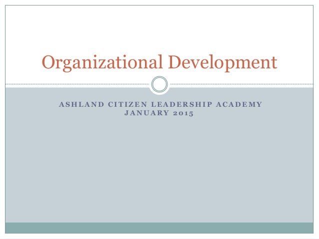 how to get into organizational development