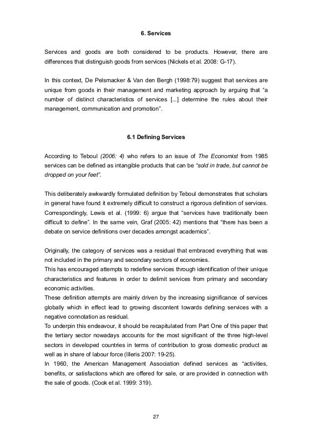 Foreign service thesis