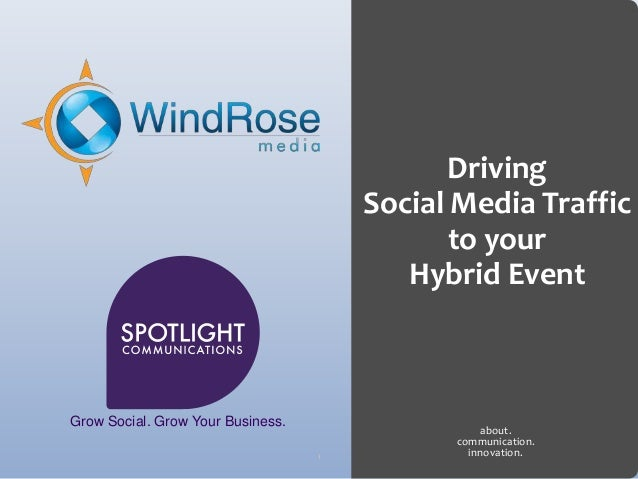 Driving                                       Social Media Traffic                                              to your   ...