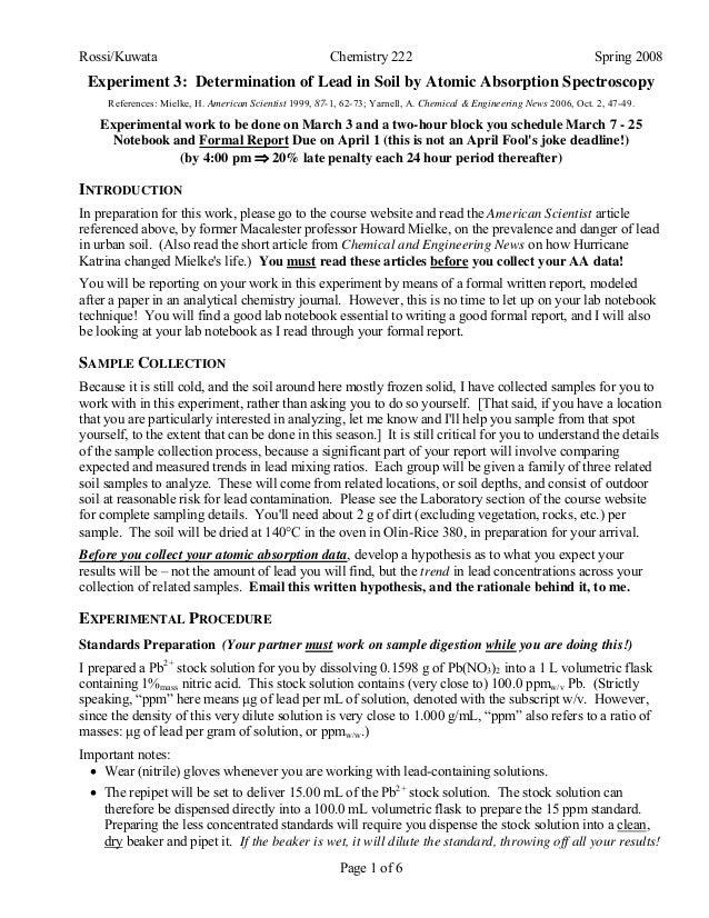 222 l exp   lead in soil - spring 2011