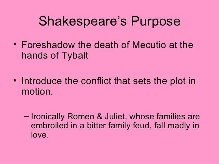 what is an example of foreshadowing in romeo and juliet