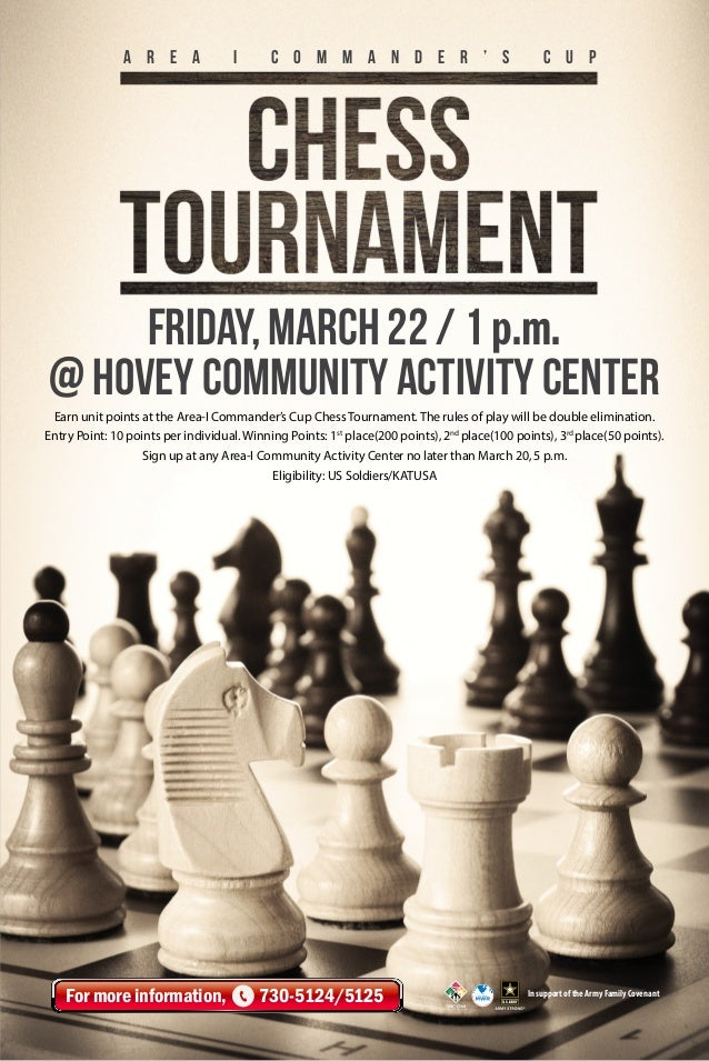 A r e a  i  C o m m a n d e r ' s  c u p  Friday, March 22 / 1 p.m. @ HOVEY Community Activity Center Earn unit points at ...