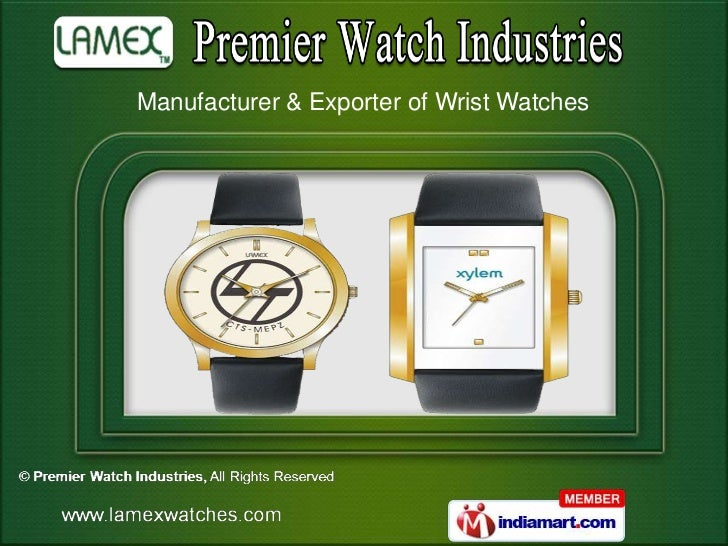Manufacturer & Exporter of Wrist Watches