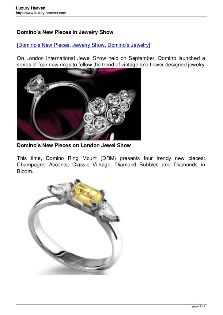 Luxury Heavenhttp://www.luxury-heaven.comDomino's New Pieces in Jewelry Show[Domino's New Pieces, Jewelry Show, Domino's J...
