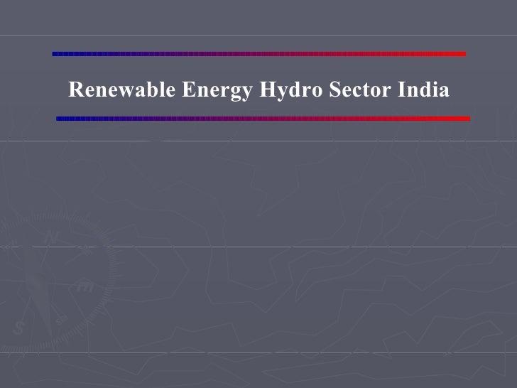 Renewable Energy Hydrosector India