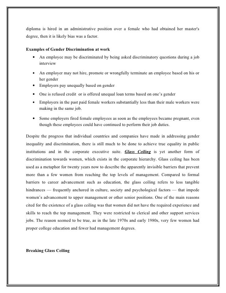discrimination in employment essay This essay has been submitted by a law student this is not an example of the work written by our professional essay writers the discrimination in employment.