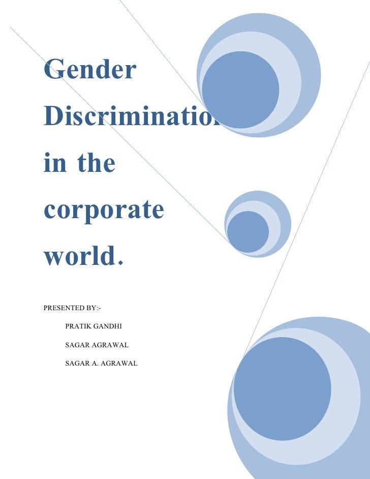 case study gender discrimination india