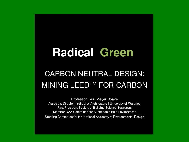 Mining LEED for Carbon