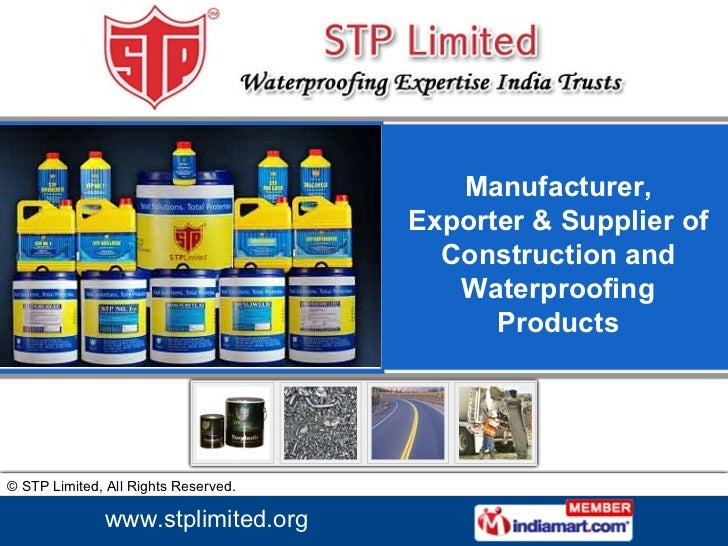 Manufacturer, Exporter & Supplier of Construction and Waterproofing Products