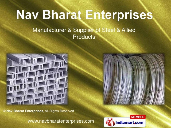 Manufacturer & Supplier of Steel & Allied Products<br />