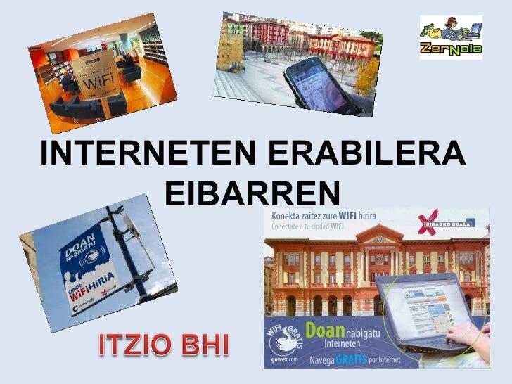 INTERNETEN ERABILERA EIBARREN