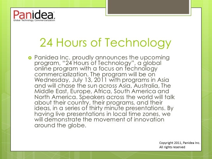 """24 Hours of Technology   Panidea Inc. proudly announces the upcoming    program, """"24 Hours of Technology"""", a global    on..."""