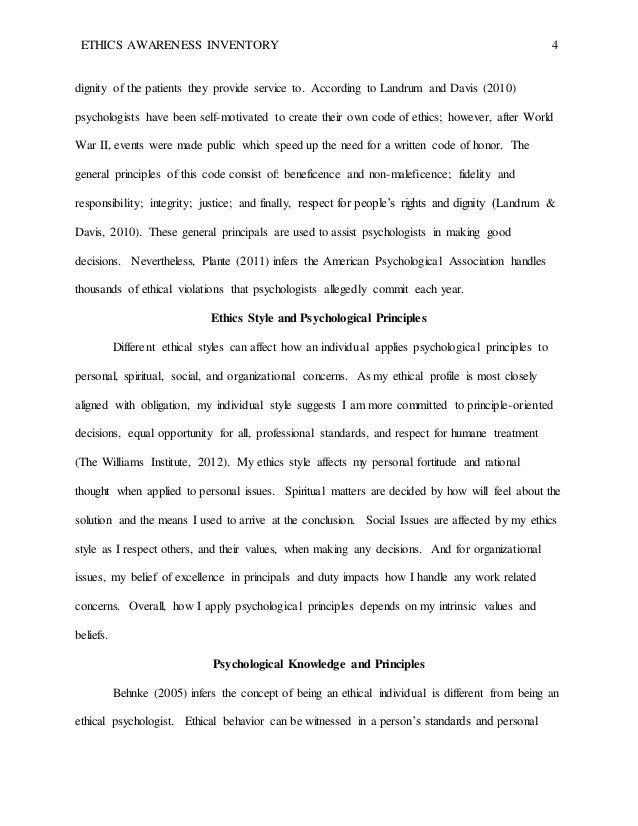 williams institute ethics awareness inventory essay Free college essay ethics awareness inventory analysis ethics awareness inventory analysis after taking the ethics awareness analysis online, and finding out that i.