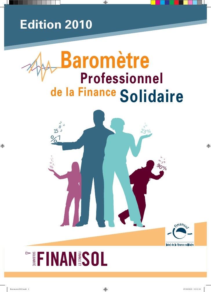 Baromètre professionnel 2010 de la finance solidaire