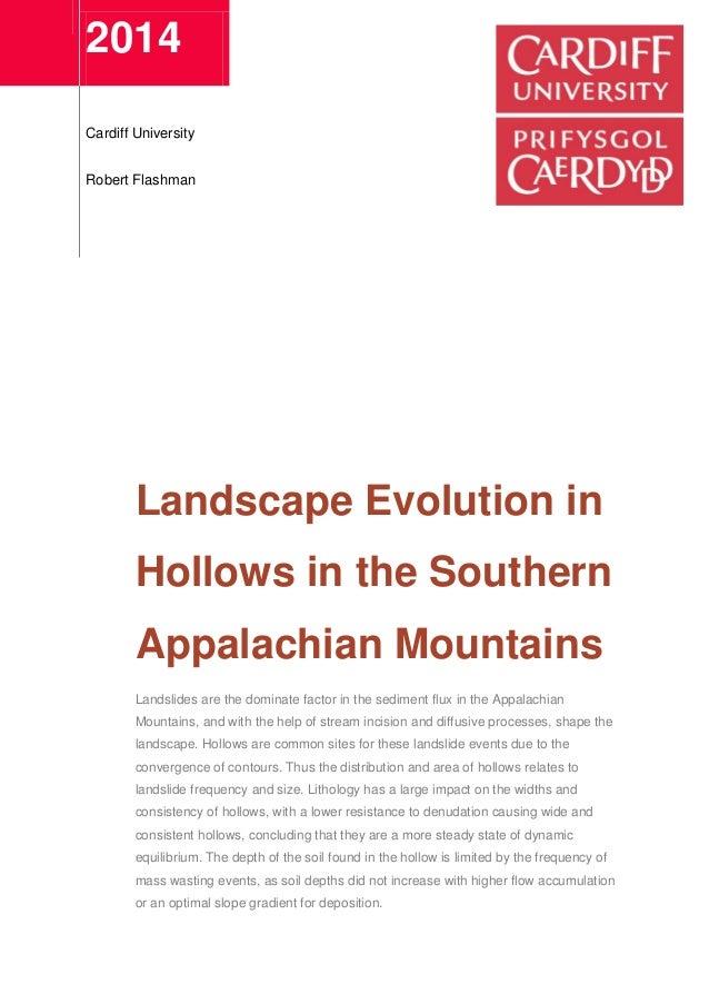 2014Cardiff UniversityRobert FlashmanLandscape Evolution inHollows in ...