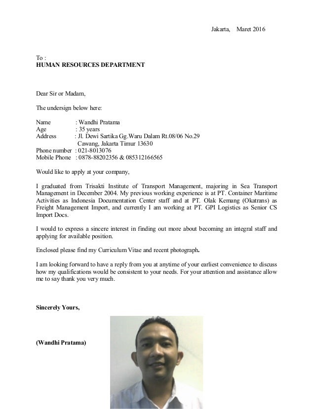 wandhi u0026 39 s cv job application letter
