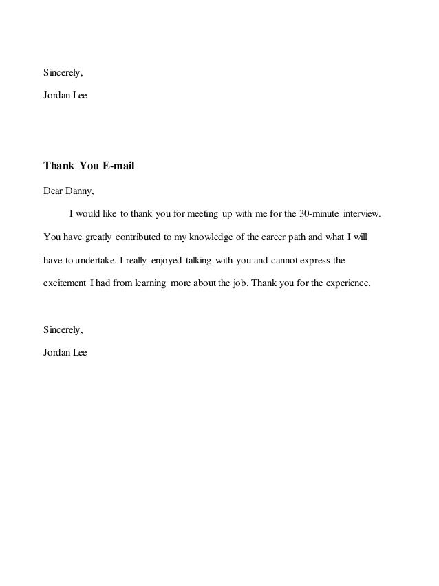 Requesting Informational Interview Letter