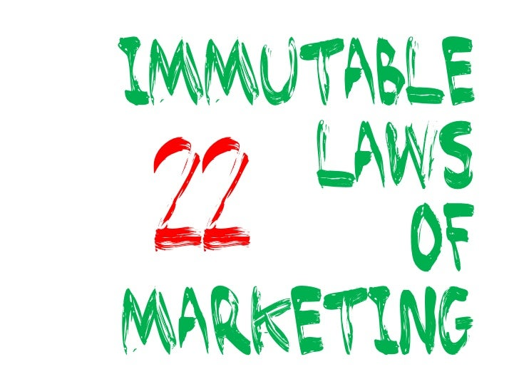 immutable laws of marketing 2: category: if you can't be first in a category, change the nature of the category or set up a new category you can be first in  3.