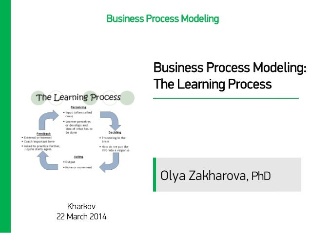 Business Process Modeling: The Learning Process Kharkov 22 March 2014 Business Process Modeling Olya Zakharova, PhD