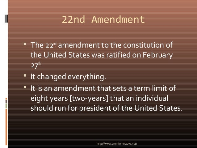 22nd amendment to the constitution of the united