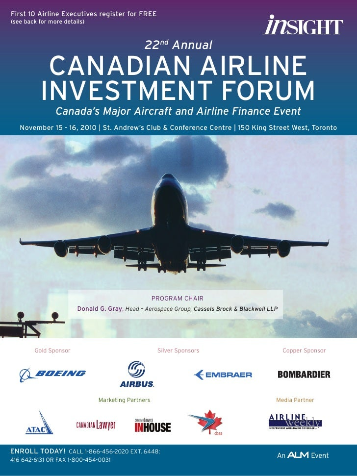 22nd Annual Canadian Airline Investment Forum