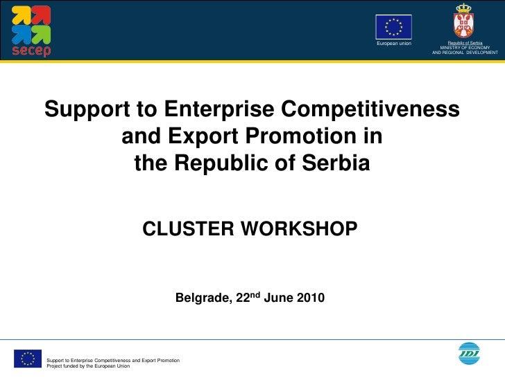 Cluster Workshop - Belgrade June 22, 2010