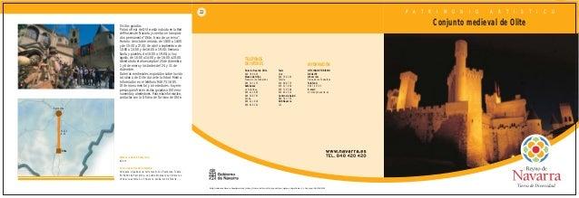 36  OLITE  22   - MAPA Y FOLLETO INFORMATIVO   TURISMO NAVARRA   TURISMO RURAL