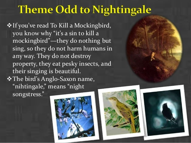 treatment of nature in ode to nightingale According to clare, one should look on nature with a specific 'poetic feeling', to be distinguished from 'fancy', and aspire to an accuracy and authenticity, which is removed from the cold, dry treatment.