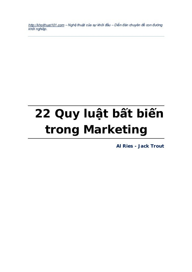 22 quy luat bat bien marketing