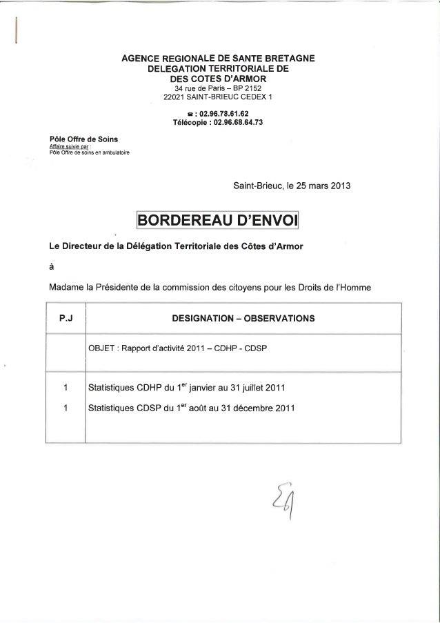 22 rapport activité cdsp 2011