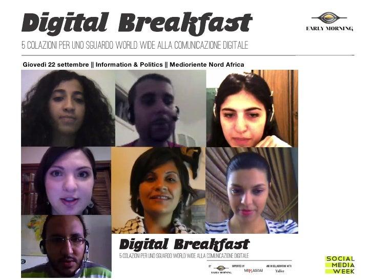 EARLY MORNING5 colazioni per uno sguardo world wide alla comunicazione digitaleGiovedì 22 settembre || Informati...