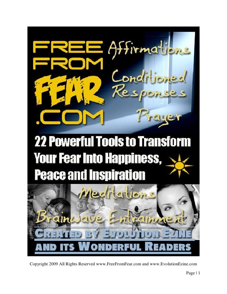22 Tools To Transform Fear