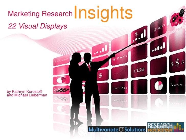 Marketing Research<br />Insights<br />22 Visual Displays<br />by Kathryn Korostoffand Michael Lieberman<br />