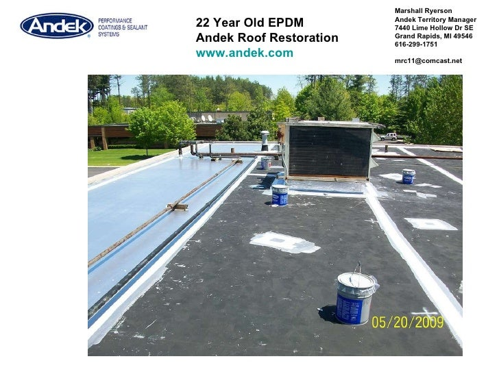 Marshall Ryerson  Andek  Territory Manager 7440 Lime Hollow Dr SE Grand Rapids, MI 49546 616-299-1751 [email_address] 22 Y...