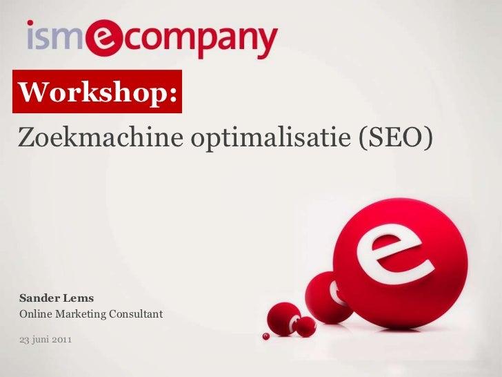 Zoekmachineoptimalisatie (SEO) voor webshops